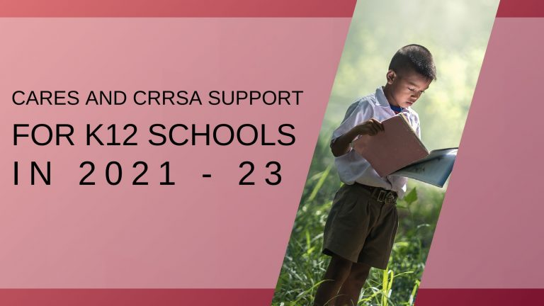 support for schools for the cares act and the crrsa act graphic